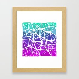 Low Poly Jewel Tones Gradient Framed Art Print