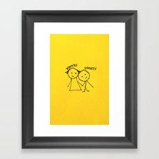 Bestfriends Framed Art Print
