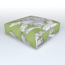 Banana Leaves Illustration - Green Outdoor Floor Cushion