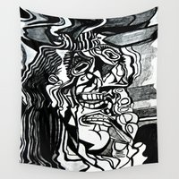 picasso Wall Tapestries featuring Basically Picasso by Marcela Caraballo