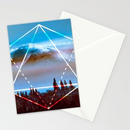 The Elements Geometric Nature Element of Air Stationery Cards