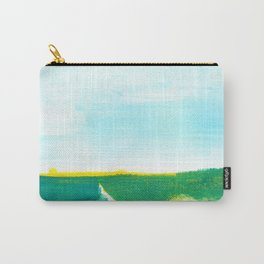 Distant forest abstract landscape Carry-All Pouch