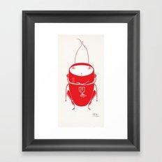 Red cricket Framed Art Print