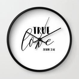 True Love Bible Verse John 3:16 Wall Clock