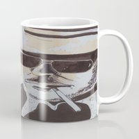 hunter s thompson Mugs featuring Hunter S. Thompson by Emily Storvold