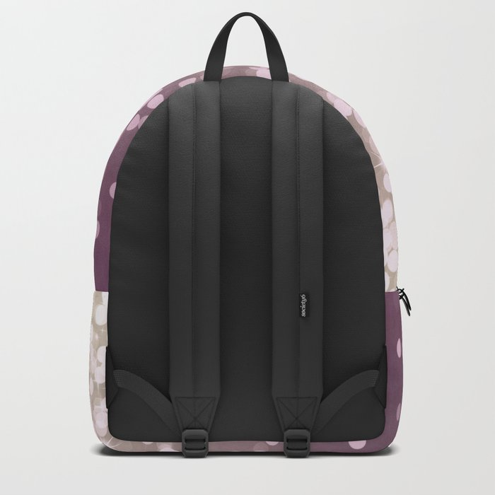 PLUM PURPLE AND GOLD CHAMPAGNE GLITTER LIGHTS Backpack