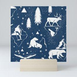 Arctic Circle - Blue Mini Art Print