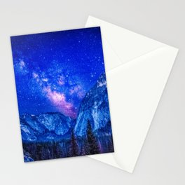 Milky Way Over Mountain Stationery Cards