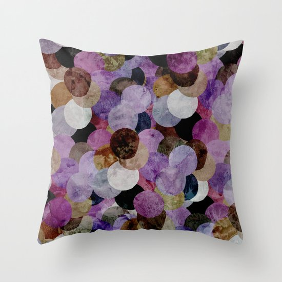Circles III Throw Pillow