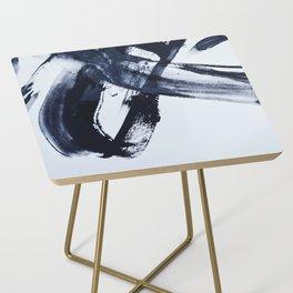 Ivory Black Side Table