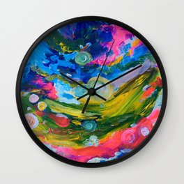 Whimsical flow Wall Clock