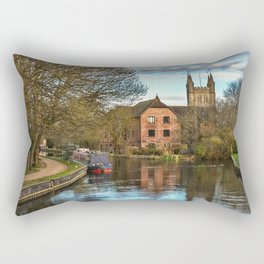 The Kennet and Avon at Newbury Rectangular Pillow