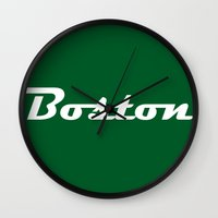 boston Wall Clocks featuring Boston by AE Interiors