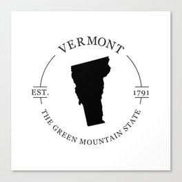 Vermont - The Green Mountain State Canvas Print