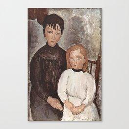 Amedeo Modigliani - Zwei Mädchen.jpg Canvas Print