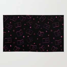 Classic Books Invert Pink Rug