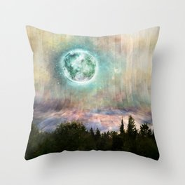 Planetary Soul Haven Day Throw Pillow