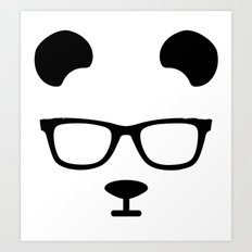 Nerd Panda Art Print
