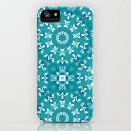 Green circle pattern 3 iPhone Case