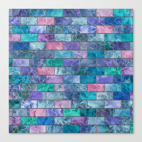 Frozen Leaves Tile Pattern 2 Canvas Print
