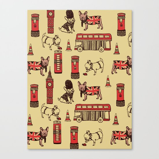 London Frenchies Canvas Print