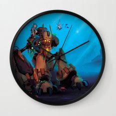 Rust and Water Wall Clock