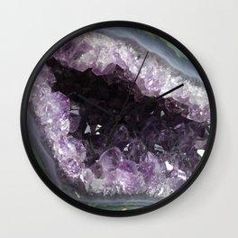Amethyst Crystal Geode Sphere Wall Clock
