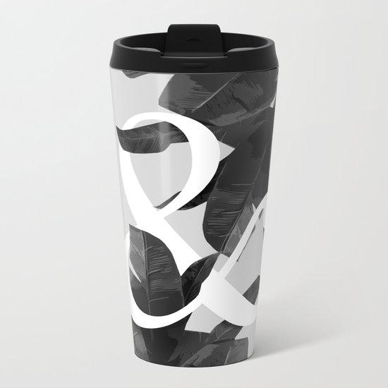 Botanical Ampersand Metal Travel Mug