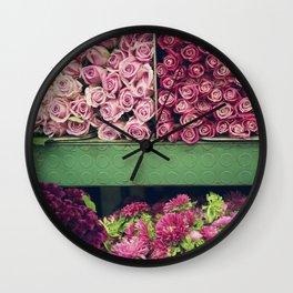 Flower Market Colorblock Wall Clock