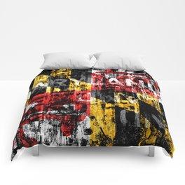 Maryland Flag Print Comforters