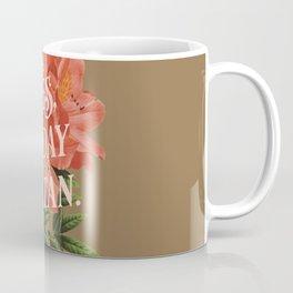 Yes Today Satan - lily flower, blush pink, deep tan colour combo Coffee Mug