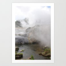 Steam in New Zealand Art Print