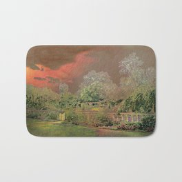 English Garden Sunset Bath Mat
