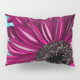 Pink Gerbera on Blue Sorbet Pillow Sham