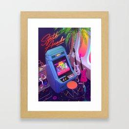 Synth Arcade Framed Art Print