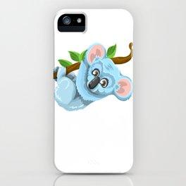 Blue Koala Cartoon iPhone Case