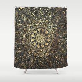 Elegant gold mandala artwork Shower Curtain