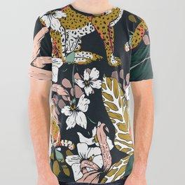 Animal print dark jungle All Over Graphic Tee