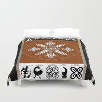 tote bag Duvet Covers featuring Adinkra Symbol Tote Bag by Sarah Pearl