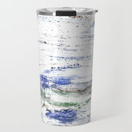 Multicolored clouded wash drawing painting Travel Mug