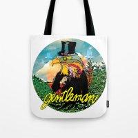 gentleman Tote Bags featuring Gentleman by dogooder