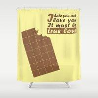 chocolate Shower Curtains featuring Chocolate by zabalza
