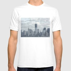 NYC Skyline 2012 Mens Fitted Tee MEDIUM White