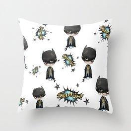 Super-cute-super-heroes bat-man Throw Pillow