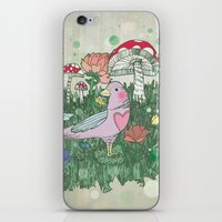 woodland iPhone & iPod Skins featuring Woodland by Jo Cheung Illustration