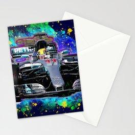 Lewis Hamilton car sport Stationery Cards