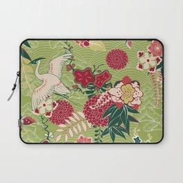 Japanese Birds and Flowers Garden Laptop Sleeve