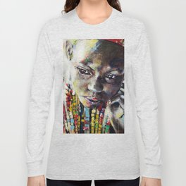 Reverie - Ethnic African portrait Long Sleeve T-shirt