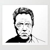 christopher walken Art Prints featuring Christopher Walken by Sheena White for Winsome Gallery