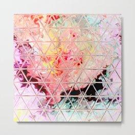 Triangle Glass Tiles 189 Metal Print